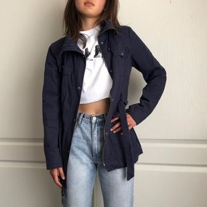 Guess navy blue utility jacket